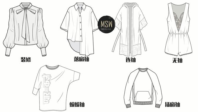 【时装画手绘系列课程】服装技法学习 服装手绘 设计