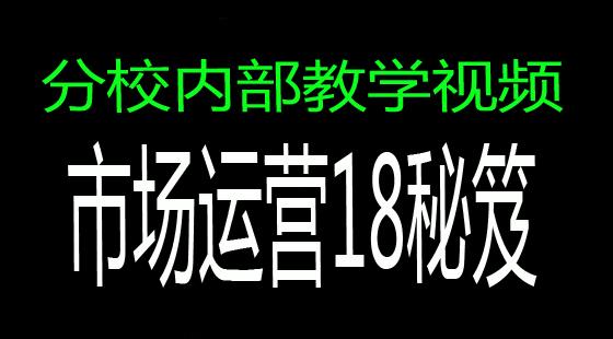 【校长专区】:《陈翔四力法》市场运营管理18条秘笈