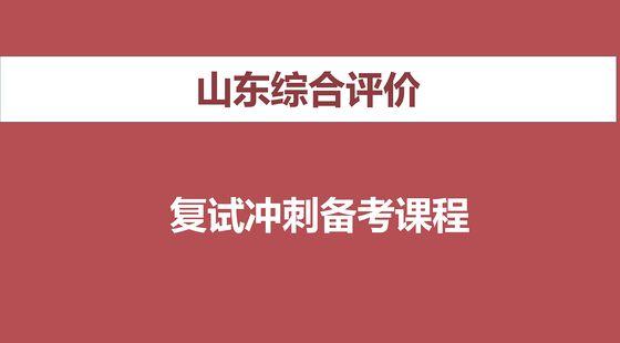 2019山东综合评价面试线上课程